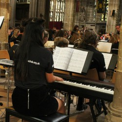 A view of part of the Robin Hood Youth Orchestra performing at St Mary's Church
